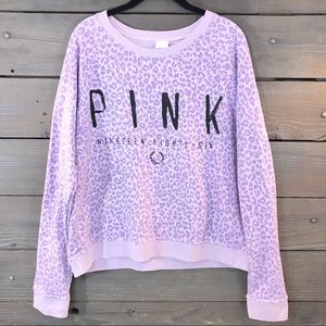 Victoria's Secret PINK Cheetah Sweatshirt